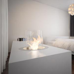chimenea de bioetanol moderna hogar abierto central