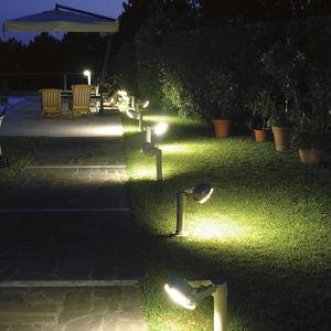 bolardo de iluminacin para jardn moderno de acero led