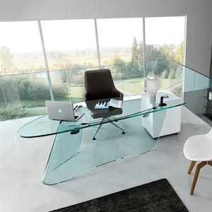 escritorio de vidrio moderno