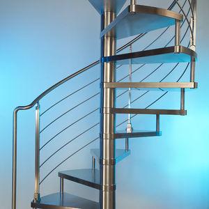 escalera de caracol peldaos de acero inoxidable estructura de acero inoxidable sin