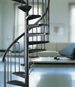 escalera de caracol con peldaos de metal estructura de metal sin