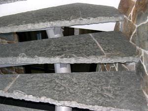 escaln de piedra natural de pizarra