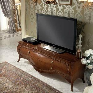 mueble de televisin clsico de madera de madera lacada