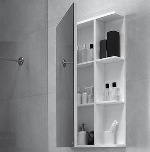 mueble de pared para cuarto de bao con espejo