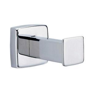 percha moderna de acero inoxidable simple para bao
