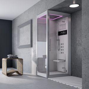 cabina de ducha hidromasaje de vidrio para de esquina