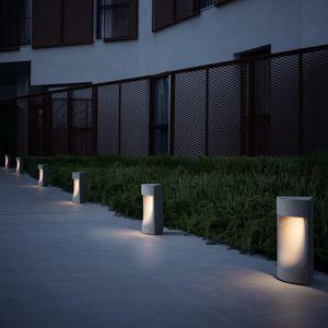 bolardo de iluminacin para jardn moderno de hormign led