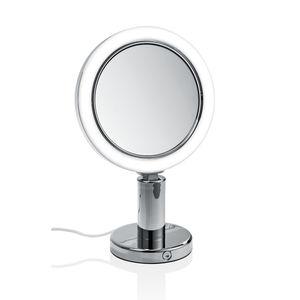 espejo de sobremesa moderno redondo con luz led