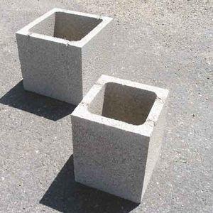 bloque de hormign hueco para pilar aspecto piedra