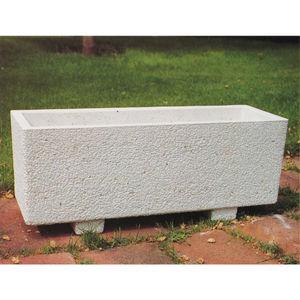 jardinera de hormign rectangular moderna para espacio pblico