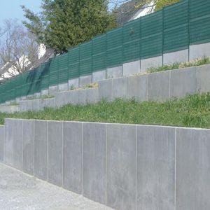 muro de contencin de hormign armado modular para valla de jardn