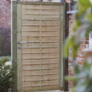 puerta para jardn de madera