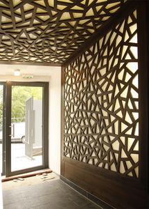 panel decorativo de pared de madera 3d