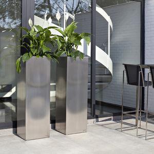 jardinera de acero inoxidable cuadrada moderna