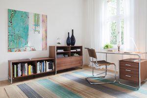 escritorio de madera de acero de diseo bauhaus profesional