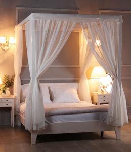 cama con dosel doble clsica de madera