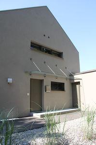 marquesina de entrada para escalera exterior para edificio comercial para terraza