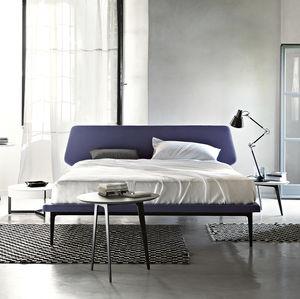 cama estndar doble moderna de tela