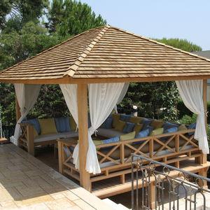 cenador de madera para espacio pblico profesional para hotel - Cenadores De Madera