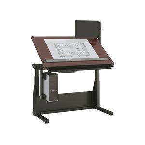 mesa de dibujo moderna de madera de material laminado rectangular
