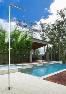 ducha de exterior para piscina de acero inoxidable