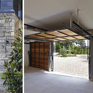 puertas de garaje basculantes de madera manuales automticas