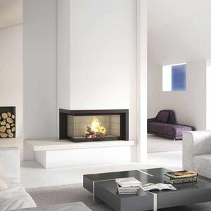 elegant chimenea de lea moderna hogar cerrado de esquina with las mejores chimeneas de lea - Chimeneas De Lea Modernas