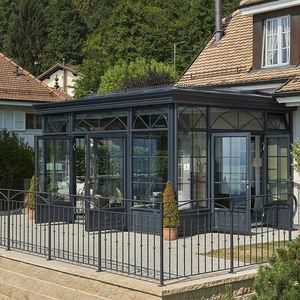 cerramiento de terraza de vidrio de aluminio