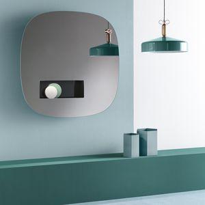 espejo de pared moderno con luz led con