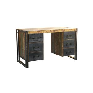 escritorio de madera de metal de diseo industrial