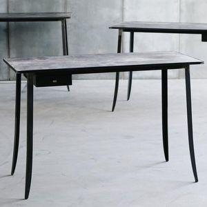 escritorio de metal de cuero de diseo industrial