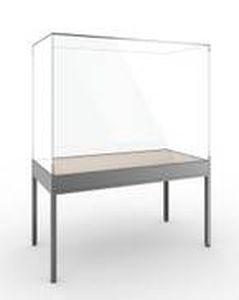 vitrina moderna de pie aluminio para museo