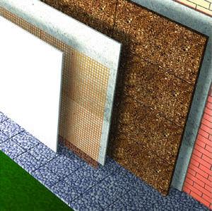 Aislante de corcho / térmico / para fachadas