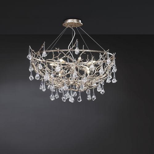 lámpara araña de diseño original / de vidrio / de metal / LED