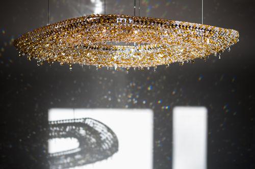 Lámpara araña moderna / de cristal / hecha a mano OENO Manooi