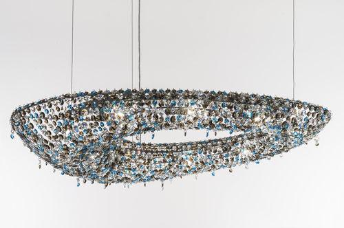 Lámpara araña moderna / de cristal / hecha a mano POLARIS Manooi