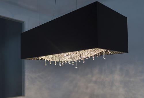lámpara araña moderna / de cristal / de roble / halógena