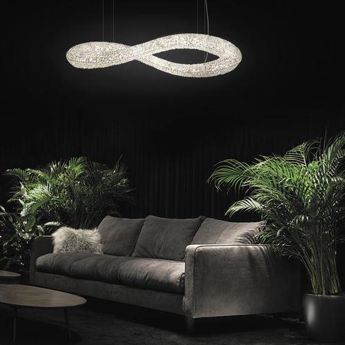 Lámpara araña moderna / de cristal / LED INFINITY Manooi