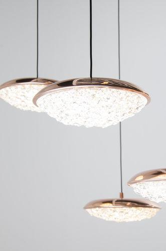 Lámpara suspendida / moderna / de latón / de cristal ORIGO Manooi