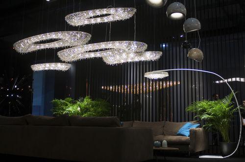 Lámpara de pie / moderna / de cristal / de interior TONDO F Manooi