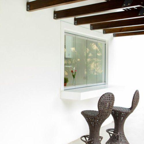 ventana corredera apilable / de aluminio