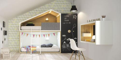 habitación para niños blanca / de madera / unisex