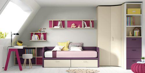 habitación para niños de madera / para niña