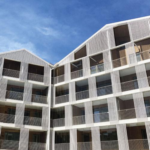 revestimiento de fachada de cerámica / mate / brillante / de paneles