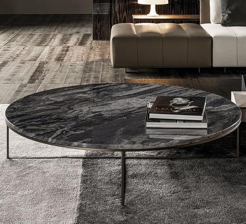 Mesa de centro / moderna / de hierro / de mármol CALDER Minotti