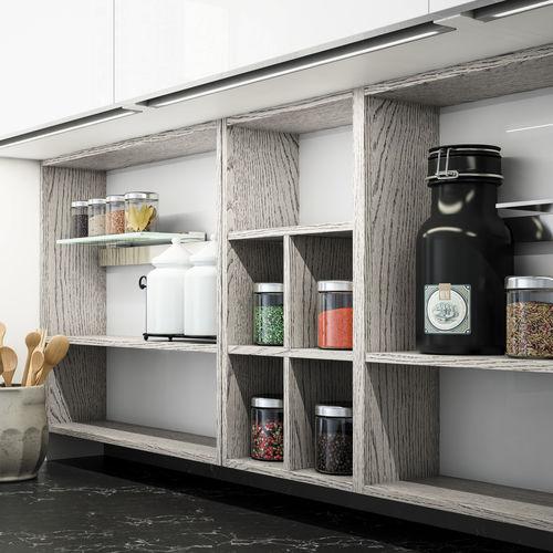 Estantería mural / moderna / de madera / para cocina LOUNGE  by Enrico Cesana COMPOSIT