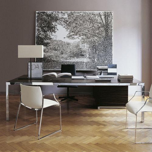 escritorio de director / de madera / de acero / de vidrio