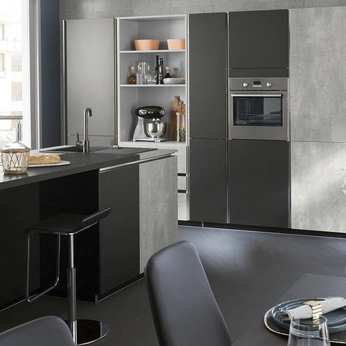 cocina moderna / de cemento / de material laminado / con isla