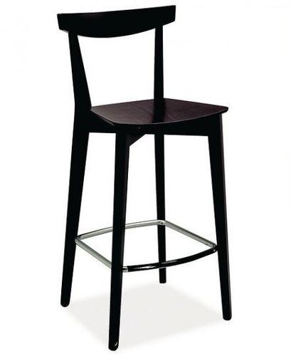 silla de bar moderna / con reposapiés / de wengué / de haya