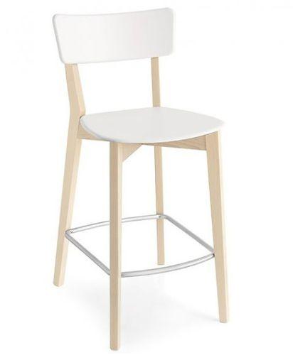 silla de bar moderna / con reposapiés / de haya / de polipropileno